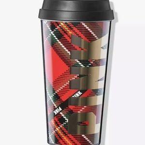 Victoria secret pink travel coffee mug